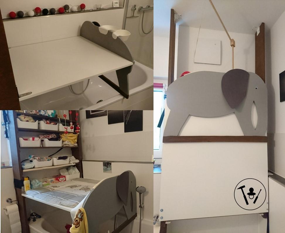 Wickeltisch über der Badewanne – carpentress-mama.de